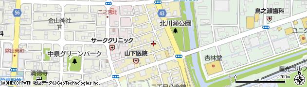 静岡県磐田市二之宮東周辺の地図