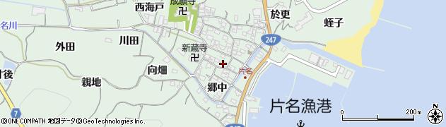 愛知県南知多町(知多郡)片名(郷中)周辺の地図