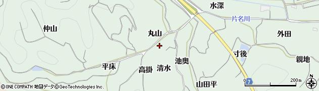 愛知県南知多町(知多郡)片名(清水)周辺の地図