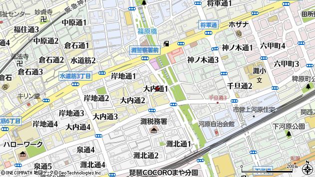 〒657-0833 兵庫県神戸市灘区大内通の地図