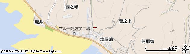 愛知県南知多町(知多郡)豊浜(中狭間)周辺の地図