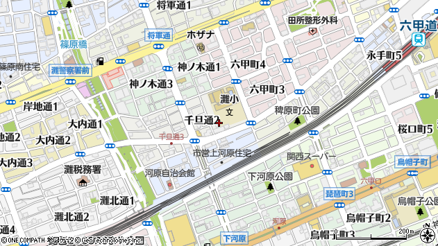 〒657-0056 兵庫県神戸市灘区千旦通の地図