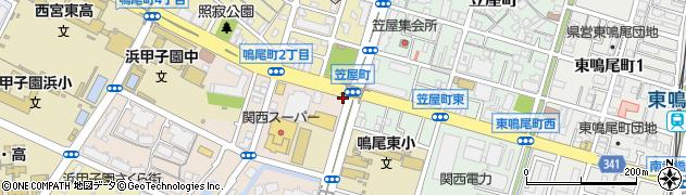 兵庫県西宮市上田西町周辺の地図