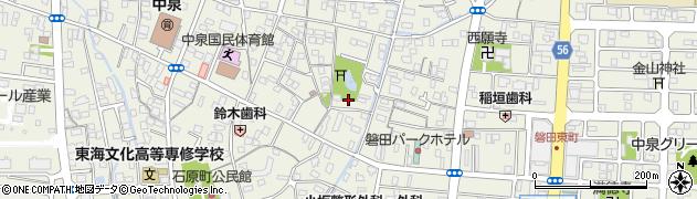 静岡県磐田市中泉周辺の地図