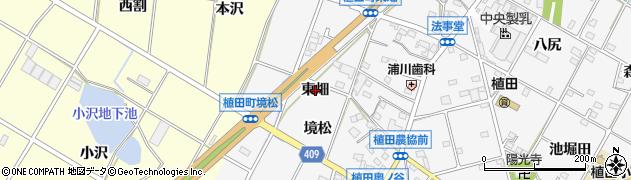 愛知県豊橋市植田町(東畑)周辺の地図
