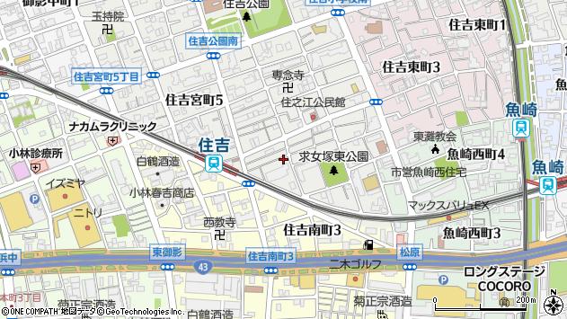〒658-0053 兵庫県神戸市東灘区住吉宮町の地図