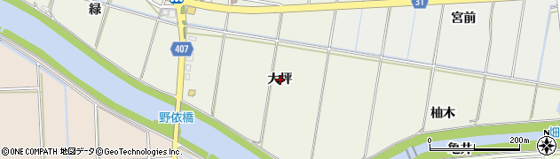 愛知県豊橋市西高師町(大坪)周辺の地図