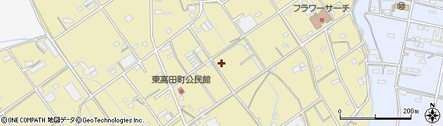 愛知県豊橋市東高田町周辺の地図