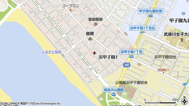 〒663-8154 兵庫県西宮市浜甲子園の地図