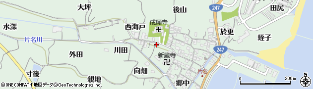 愛知県南知多町(知多郡)片名(稗田)周辺の地図