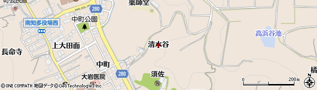 愛知県南知多町(知多郡)豊浜(清水谷)周辺の地図