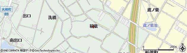 愛知県豊橋市大崎町(稲葉)周辺の地図