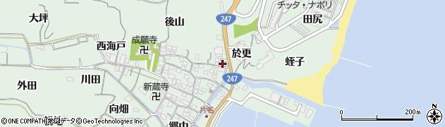 愛知県南知多町(知多郡)片名(於更)周辺の地図