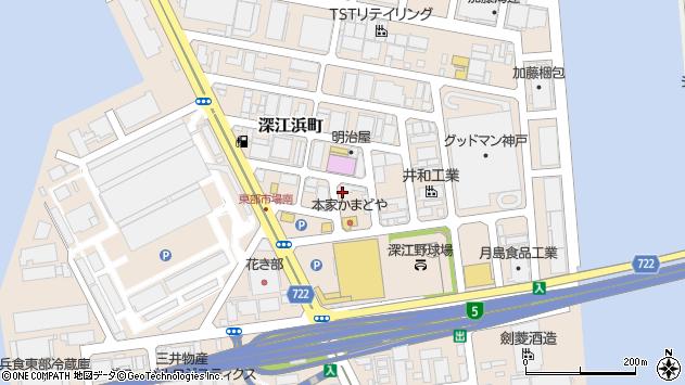 〒658-0023 兵庫県神戸市東灘区深江浜町の地図