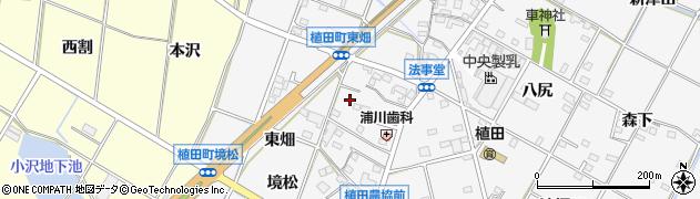 愛知県豊橋市植田町(車塚)周辺の地図