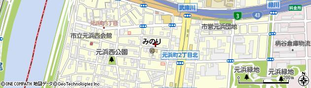 兵庫県尼崎市元浜町2丁目周辺の地図