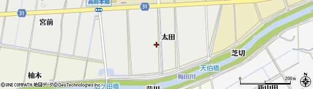愛知県豊橋市高師本郷町(太田)周辺の地図