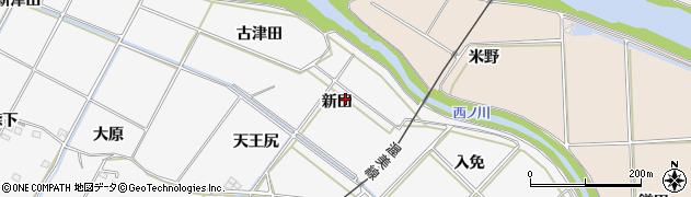 愛知県豊橋市植田町(新田)周辺の地図