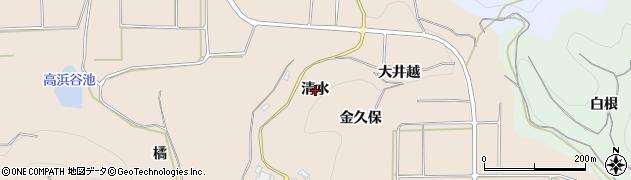 愛知県南知多町(知多郡)豊浜(清水)周辺の地図