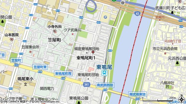 〒663-8132 兵庫県西宮市東鳴尾町の地図