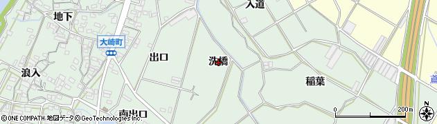 愛知県豊橋市大崎町(洗橋)周辺の地図
