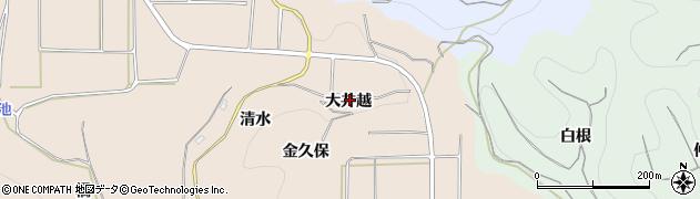 愛知県南知多町(知多郡)豊浜(大井越)周辺の地図