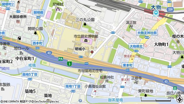 〒660-0825 兵庫県尼崎市南城内の地図