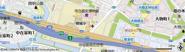 兵庫県尼崎市南城内周辺の地図