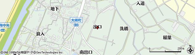 愛知県豊橋市大崎町(出口)周辺の地図