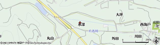 愛知県南知多町(知多郡)片名(水深)周辺の地図