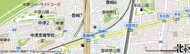 大阪府大阪市北区豊崎周辺の地図