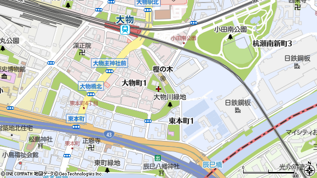 〒660-0823 兵庫県尼崎市大物町の地図
