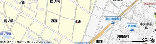 愛知県豊橋市船渡町(本沢)周辺の地図