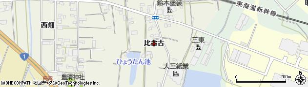 愛知県豊橋市豊清町(比舎古)周辺の地図