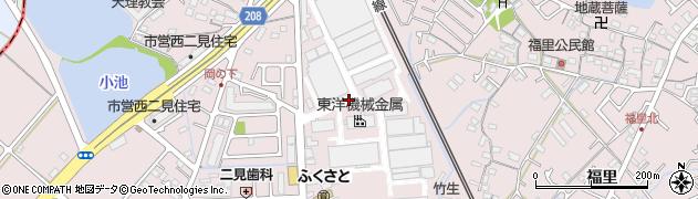 兵庫県明石市二見町福里西圃周辺の地図