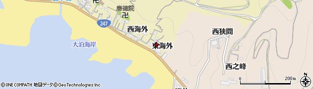 愛知県南知多町(知多郡)山海(東海外)周辺の地図