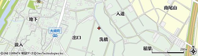 愛知県豊橋市大崎町周辺の地図