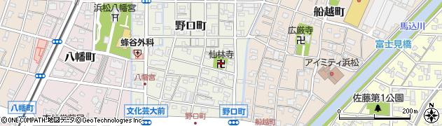 仙林寺周辺の地図