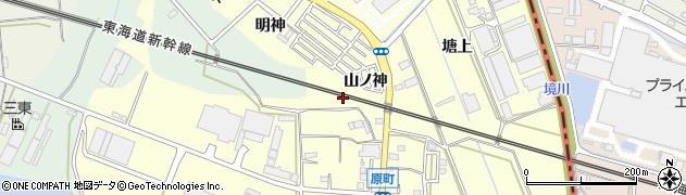 愛知県豊橋市原町(山ノ神)周辺の地図
