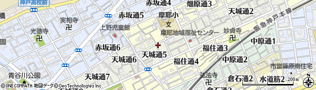 徳本寺周辺の地図