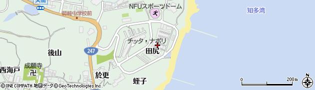 愛知県南知多町(知多郡)片名(田尻)周辺の地図