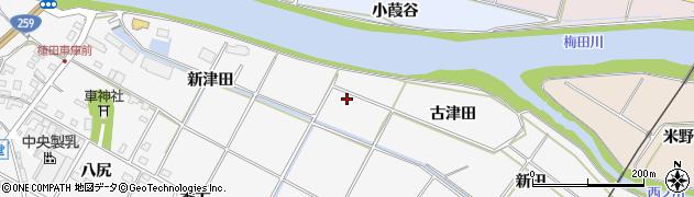 愛知県豊橋市植田町(古津田)周辺の地図