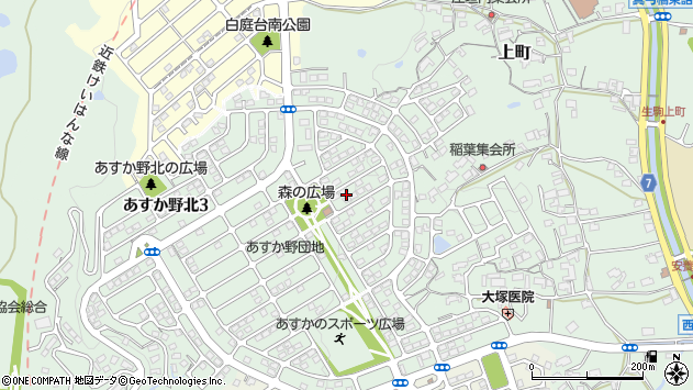 〒630-0134 奈良県生駒市あすか野北の地図