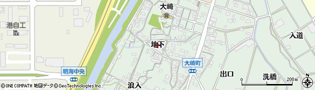 愛知県豊橋市大崎町(地下)周辺の地図