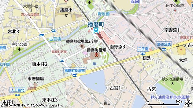 〒675-0100 兵庫県加古郡播磨町(以下に掲載がない場合)の地図
