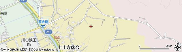 静岡県掛川市上土方落合周辺の地図
