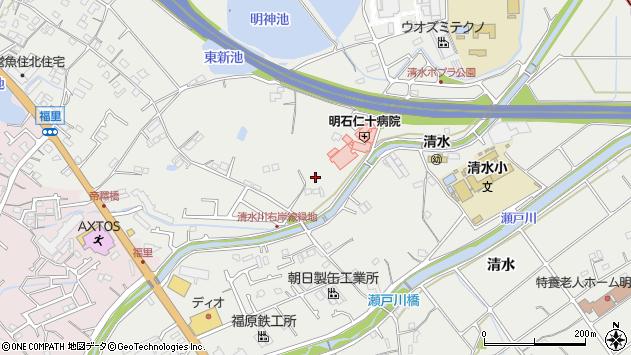 〒674-0074 兵庫県明石市魚住町清水の地図