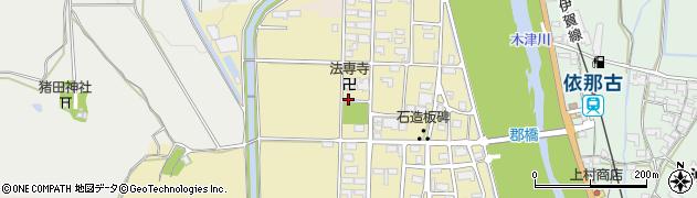 三重県伊賀市下郡周辺の地図