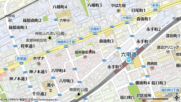 〒657-0053 兵庫県神戸市灘区六甲町の地図