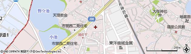 兵庫県明石市二見町西二見岡ノ上周辺の地図